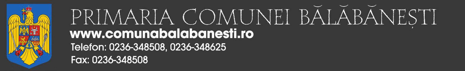 Primaria Comunei Balabanesti – Judetul Galati – Romania